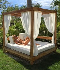 planters garden wives garden simple While age-old throughout strategy, Outdoor Bedroom, Outdoor Daybed, Diy Outdoor Furniture, Outdoor Decor, Backyard Cabana, Outdoor Cabana, Backyard Patio, Diy Lit, Garden Cottage