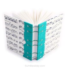 If youre looking for a one of a kind gift for a music lover, look no further! I created these lovely handmade journals using some lovely sheet music and a variety of different colored spines and matching thread. They are filled with 160 pages of smooth lightly specked writing paper that