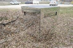 Deer Blind made from inward sloping trapezoidal mirrors. Awesome