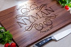 Personalized Wedding Gift, Personalized Cutting Board Custom Wedding Gift Ideas For The Couple Bridal Shower Gift  Personalized Engagement by IntraSStudio on Etsy