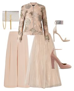 """Dressing Pink!!!"" by la-harrell-styling-co on Polyvore featuring TIBI, Alice + Olivia, Stuart Weitzman, Aquazzura, Yves Saint Laurent and Miss Selfridge"