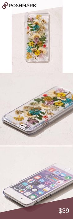 ☀️SALE☀️Urban Outfitters Buncha Flowers Phone Case Fits iPhone 6 Plus / 6s Plus / 7 plus / 8  Brand new in packaging. REAL PRESSED FLOWERS. Hard case. Such a beauty. Got as a gift but got the wrong sized case. Looks even more beautiful in person. Urban Outfitters Accessories Phone Cases
