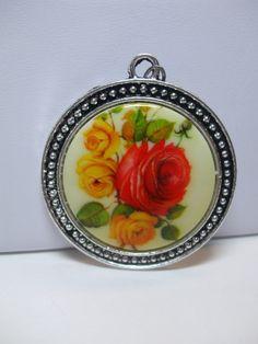 Vintage West Germany Floral Rose Limoge by trappedintheattic, $16.50