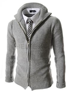 Slim fit zip front sweater. Great if you just want to pop out of the office in this chilly weather.