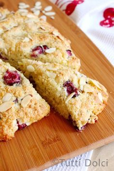 Cherry Almond Scones - mine came out more like a cake than scones, but still tasted good
