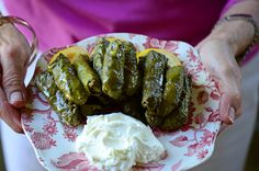 stuffed grape leaves...yummmm!