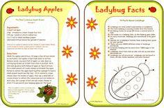 Bugs badge - ladybug printable