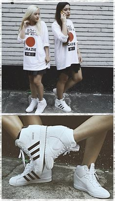 Women's Shoes SNEAKERS adidas Originals Superstar up Metal Toe