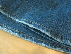 Hemming Distressed Jeans | Cathe Holden's Inspired Barn