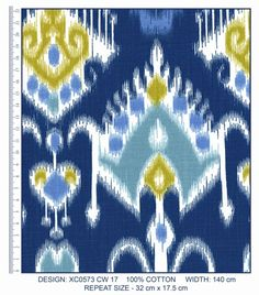 A range of Cotton Furnishing Fabric designed by Da Gama Textiles. Fabric Design, Cotton Fabric, Interior Decorating, Textiles, Range, Colours, Projects, Collection, Home Decor