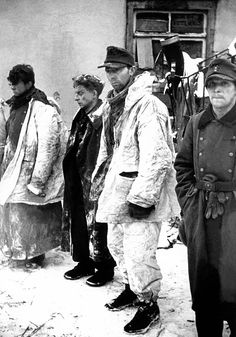 German prisoners-of-war in Bihain, Belgium, Battle of the Bulge, World War II, 12th January 1945. (Photo by Tony Vaccaro/Getty Images)