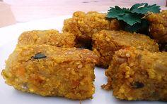 TODAS LAS RECETAS : Croquetas de mijo con tofu.
