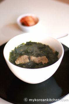 Korean Brown Seaweed Soup (Miyeok Guk) - Aka a birthday soup, It is also commonly consumed by a mother after giving a birth to a child Korean Seaweed Soup, Seaweed Salad, Asian Recipes, Healthy Recipes, Hawaiian Recipes, Asian Foods, Healthy Soup, Soup Recipes, Cooking Recipes