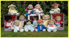 Mattel's My Child dolls- I had a little blonde with green eyes when I was little. I still think she was one of the cutest baby dolls I ever had- soooo much cuter than Cabbage Patch dolls!
