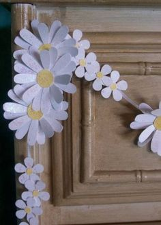Paper Daisy Chain-Wedding Garland-Banner-Shower Decor-Tea Party-Shabby on Etsy, Daisy Party, Daisy Chain, Diy Paper, Paper Crafts, Paper Daisy, Engagement Party Decorations, Pew Decorations, Paper Flowers Wedding, Garland Wedding