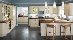 cream kitchens with black worktops - Google Search