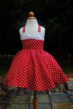 Teen Beach Movie  Red Vintage Style Polka Dot by DarlingInDisguise, $60.00