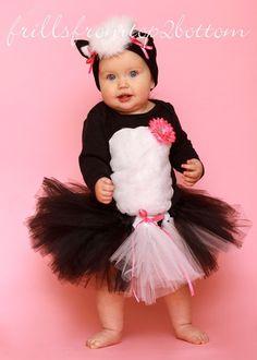 Newborn Infant Toddler Black and White Skunk Tutu Costume . Dress Up . Tutu Costumes, Cute Halloween Costumes, First Halloween, Disney Halloween, Halloween Treats, Costume Ideas, Skunk Costume, Stretchy Headbands, Costumes
