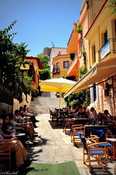 """Sunday"" Coffee, Plaka, Attica, Greece Copyright: Chris Vekris"