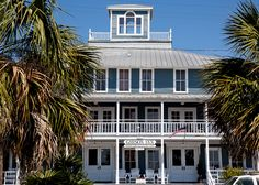 Called The Franklin Inn when built in 1907, The Gibson Inn was restored in 1988 and features a restaurant, bar and 30 rooms. Downtown Apalachicola