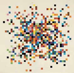 Ellsworth Kelly Spectrum Colors Arranged by Chance II, 1951 - Collage on paper