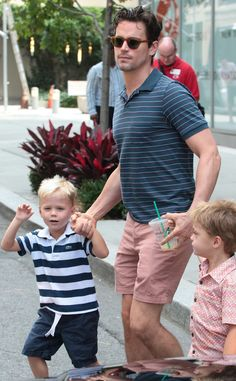 Matt Bomer, Walker & Henry from The Big Picture: Today's Hot Pics  The White Collar hottie and his adorable kids take Manhattan!Fifty Shades of Grey hoax: Matt Bomer not really joining (but he should!)