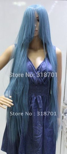 (Free Shipping)Cheap Blue long Hair Girl Cosplay Wigs
