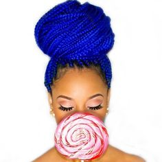 Black Girl Fly Magazine — BGF Hair Chronicles :: Blue braids in ...