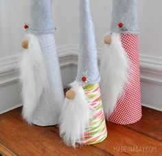 How to make a gnome holiday decor madeinaday.com