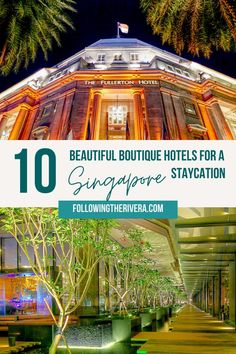 Is a #staycation on the cards for you? In #singapore these 10 #luxury and #boutiquehotels are the perfect place to escape home, and with no e-ticket required. | Best attractions in Singapore | Singapore Travel | Singapore Trip | Things to do in Singapore | Places to Visit in Singapore | Singapore Travel Tips | Singapore Travel Destinations | Singapore Travel Guide | Southeast Asia Travel | #luxuryhotels #staycations Asia Travel, Solo Travel, Croatia Travel, Hawaii Travel, Italy Travel, Travel Abroad, Singapore Travel Tips, Singapore Singapore, The Good Place