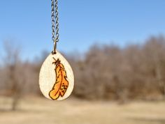 Feather Necklace- Feather Jewelry - Feather Art- Wood Jewelry -Pyrography Art - Pyrography Wood Burning - Tribal Jewelry on Etsy, $16.99