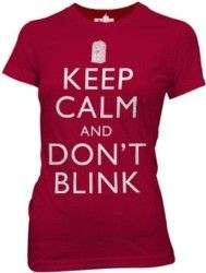 Keep Calm and Don't Blink T-Shirt Don't Blink, Keep Calm, Doctor Who, Stylish, Mens Tops, T Shirt, Clothes, Gadgets, Women