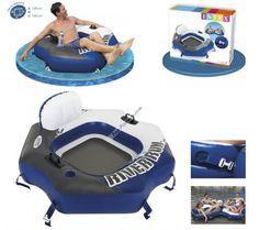 ¡Buenos días amigos! Os presentamos un sillón hinchable de alta calidad para disfrutar del mejor verano. Un accesorio perfecto para relajarse. Contiene 2 cámaras de aire, un porta botellas, 2 asas, un kit de reparación y enganches para conectar varias piezas. http://www.top-piscinas.com/colchonetas-y-accesorios/sillon-lounge-river-run-connect-130x126-cm-intex-ref-58854.html