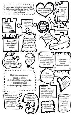 Bovenbouw Home Trends 2017 home color trends School 2017, Art School, Back To School, Writing Challenge, School Hacks, Teaching Art, Preschool Learning, Learning Activities, Teaching Ideas
