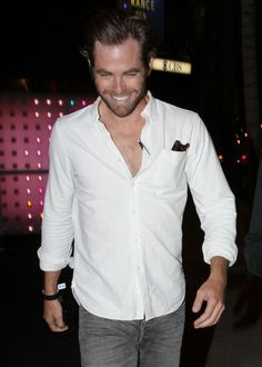 Chris Pine SubCategory: The Button Allergy is Catching