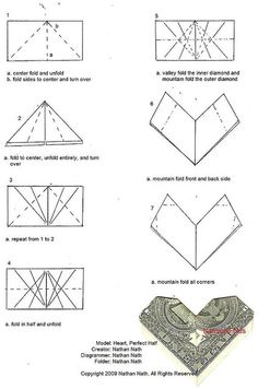 How To Make Origami Dollar Heart Tutorial | 356x236