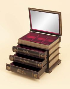 I really like this jewelry box...designed like books.  Would be way better if it was HP books.
