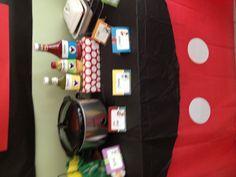 Mickey Mouse Birthday Party- i like the table cloth idea