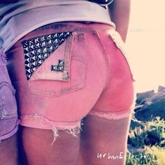 Ombre Studded Distressed Shorts by UrbanEclectics on Etsy cuteee