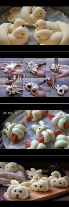 How to make bird bread - YouTu Bread And Pastries, Cute Food, Good Food, Yummy Food, Art Du Pain, Bread Shaping, Bread Art, Food Decoration, Food Humor