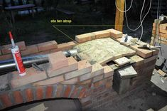 grillo wędzarnia projekt by buc Outdoor Bbq Kitchen, Outdoor Barbeque, Pizza Oven Outdoor, Bbq Grill Diy, Grilling, Barbecue, Brick Grill, Villa, Pergola