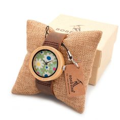 37mm Bamboo Wood Ladies Watch