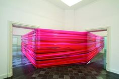 Martin Pfeifle  Red Martha.  (Red and pink film strips)
