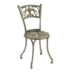 Monogram Metal Table and Chairs Outdoor Bistro Set