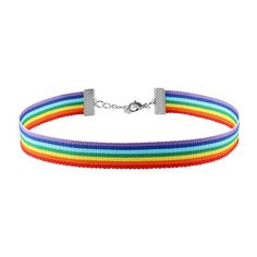 Men Women Gay Pride Rainbow Choker Necklace LGBT Gay and Lesbian Pride Lace Chocker Ribbon Collar with Pendant Jewelry Star Necklace, Necklace Types, Initial Necklace, Rainbow Choker, Accesorios Casual, Diamond Solitaire Necklace, Diamond Necklaces, Diamond Jewellery, Women's Street Style