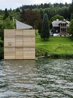 Architecture Photography: Boat's House at Millstätter Lake / MHM architects Cabinet D Architecture, Haus Am See, Lakefront Property, Construction Design, Architect Design, Rustic Design, The Great Outdoors, Facade, House Design