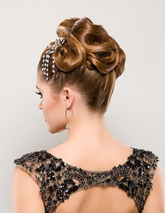 "Give 40's chic a try with a ""Netted Bun""!"