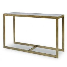 Horne Console Table by Mr. Brown.     Finish: Mayan Gold with Marble Insert