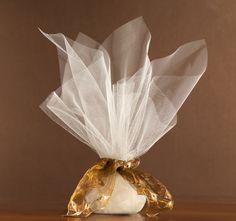 organza broderie bronze                  μπομπονιέρα γάμου
