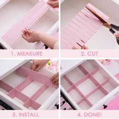 Free Combination Adjustable Drawer Organizer (Set of - desk organization office Dresser Drawer Organization, Diy Drawer Organizer, Sock Organization, Drawer Organisers, Diy Drawer Dividers, Organizing Drawers, Organizing Baby Clothes, Clothing Organization, Office Organization At Work